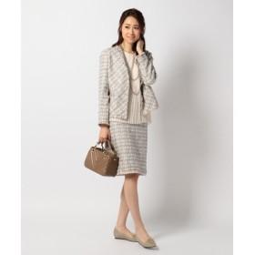 L size ONWARD(大きいサイズ) / エルサイズオンワード 【セットアップ対応】TOURNIERルレックスツイード スカート