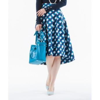 組曲 / クミキョク 【洗える】ビッグバイアスチェック フレアスカート