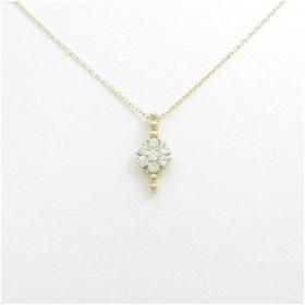 【リメイク】K18YG フラワー ダイヤモンドネックレス