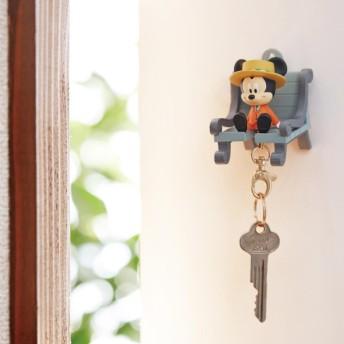 ディズニー キーホルダー付きのキーフック おかえりキーチェーン ミッキーマウス
