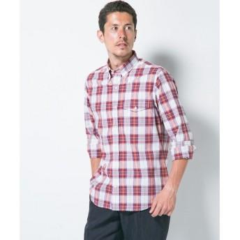 J.PRESS / ジェイプレス 【カジュアル】シルクネップタータンチェックシャツ