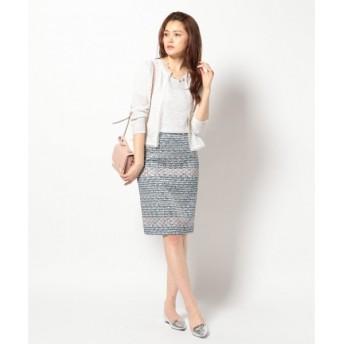 S size ONWARD(小さいサイズ) / エスサイズオンワード ツイードライクプリント スカート