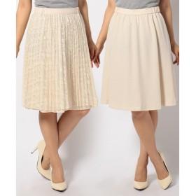 S size ONWARD(小さいサイズ) / エスサイズオンワード ノーブルレースリバーシブル スカート