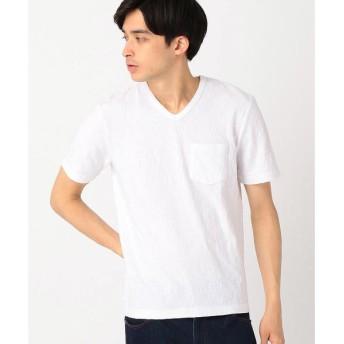 COMME CA ISM / コムサイズム ジャカードTシャツ