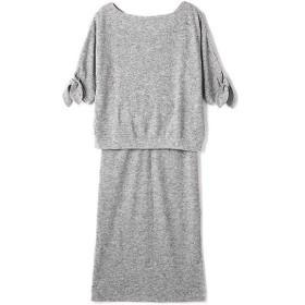 ROSE BUD / ローズ バッド 袖リボンリブ編みセットアップ