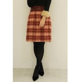 PROPORTION BODY DRESSING / プロポーションボディドレッシング  レディチェックウエストレースタイトスカート