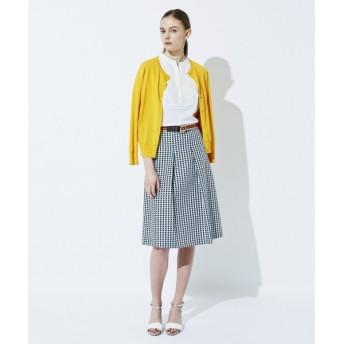 J.PRESS / ジェイプレス 【洗える!】変形ギンガムジャガードスカート