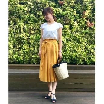 NIMES / ニーム 80/-ローン タックヒダリボン付スカート
