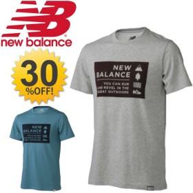 ニューバランス メンズ 半袖 Tシャツ NewBalance ライフスタイル キャンプバイブスT カジュアルウェア 男性用 プリントT トップス TEE スポーツ/AMT63512