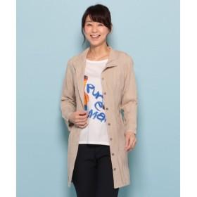L size ONWARD(大きいサイズ) / エルサイズオンワード デニムプリーツ ロングシャツ