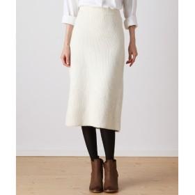 Harriss / ハリス タスマニアウール畦編みタイトスカート