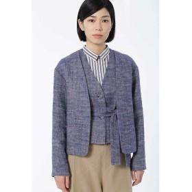 HUMAN WOMAN / ヒューマンウーマン 麻ヘリンボン起毛 ジャケット