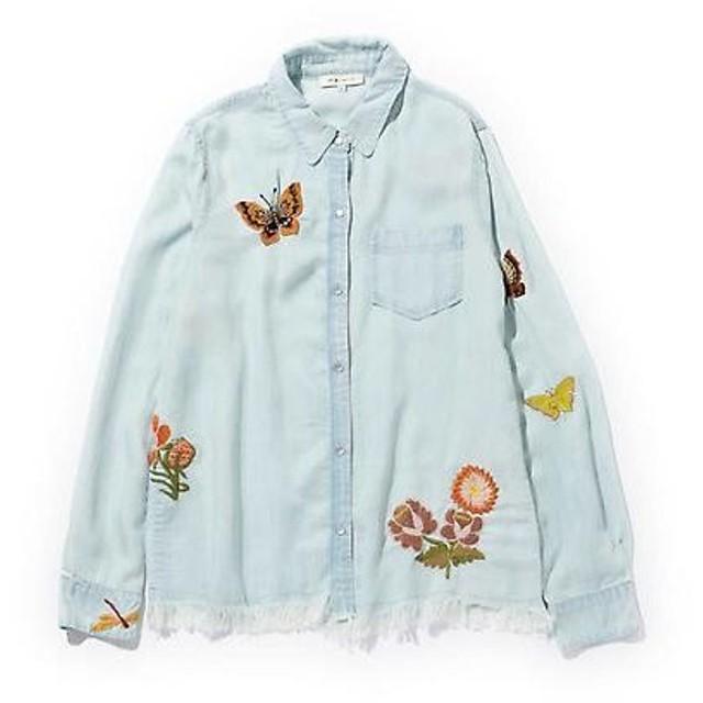 ROSE BUD / ローズ バッド フリンジ使い刺繍シャツ
