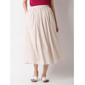 CLEAR IMPRESSION / クリアインプレッション 《WEB限定大きいサイズ》ミモレ丈カラースカート