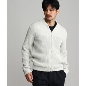 TAKEO KIKUCHI / タケオキクチ パネル切替ジップカーディガンニット