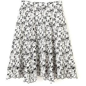 PROPORTION BODY DRESSING / プロポーションボディドレッシング  モノトーンエンブロイダリースカート