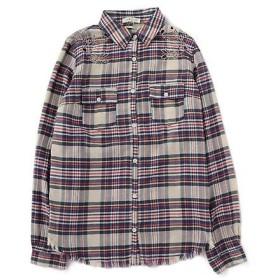 ROSE BUD / ローズ バッド 刺繍入りチェック柄シャツ