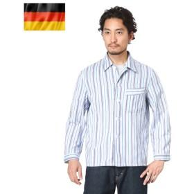 実物 ドイツ軍 パジャマシャツ ストライプ USED 長袖 シャツ ジャケット ミリタリー トップス 放出品 軍服