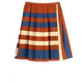 HUMAN WOMAN / ヒューマンウーマン コットンシルクボーダースカート