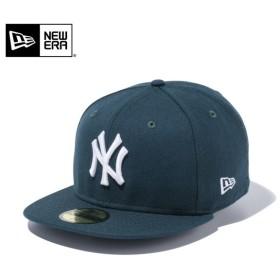 セール20%OFF!【メーカー取次】 NEW ERA ニューエラ 59FIFTY MLB ニューヨーク・ヤンキース ダークグリーンXホワイト 11308554 キャップ ブランド