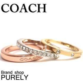 全品ポイント5倍 コーチ COACH アクセサリー リング 指輪 レディース スタッカブル パヴェ ロゴ リング セット 指輪 F99552 E22 6