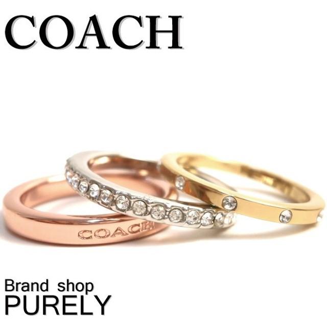 COACH コーチ スタッカブル パヴェ ロゴ リング セット レディース F99552