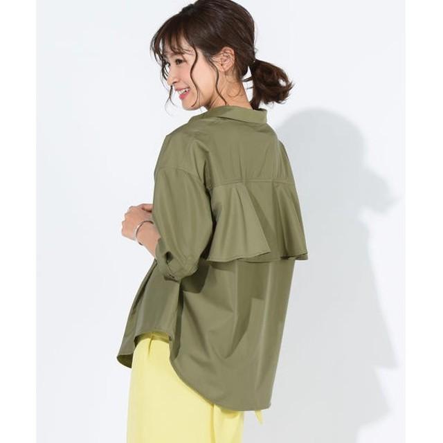 MAYSON GREY / メイソングレイ 【洗濯機OK】【socolla】フリルポンチョシャツ