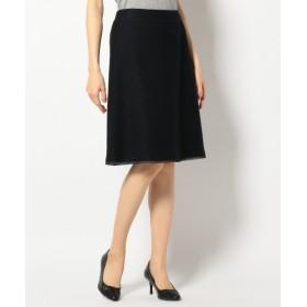 S size ONWARD(小さいサイズ) / エスサイズオンワード 【セットアップ対応】カラミラメツイード スカート