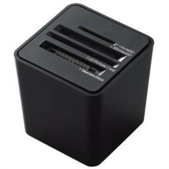 エレコム 44メディア対応 メモリリーダライタ 縦挿しタイプ ブラック MR-C14BK