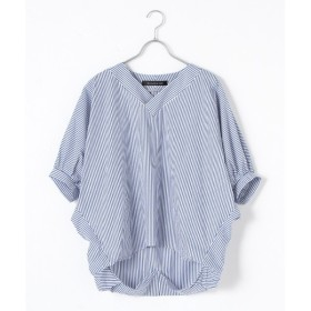 MARcourt / マーコート stripe V neck cocoon P/O