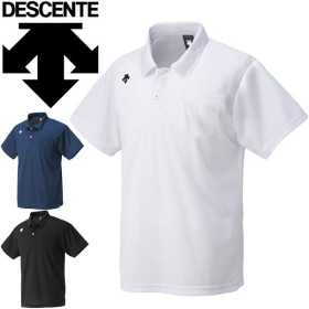 ポロシャツ 半袖 メンズ レディース デサント DESCENTE ボタンダウン ポケット付き スポーツウェア チームウェア カジュアル クールビズ/DTM-4601【取寄】