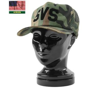 実物 新品 米軍 1970'S NEWERA製 SVSベースボールメッシュキャップ MADE IN USA ニューエラ 帽子 デッドストック アメリカ軍【Sx】