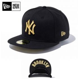 セール20%OFF!【メーカー取次】 NEW ERA ニューエラ 59FIFTY UNDERVISOR ニューヨーク・ヤンキース ブラック×ゴールド BROOKLYN 12336657 キャップ ブランド