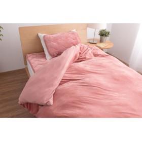 うっとりなめらかパフ 布団を包める毛布(mofua) 「ピンク」
