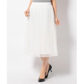 自由区 / ジユウク Wプリーツレーシー スカート