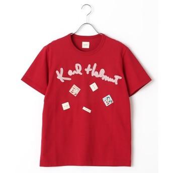 PINK HOUSE / ピンクハウス ロゴアップリケTシャツ