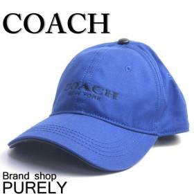 全品ポイント5倍 COACH コーチ 帽子 メンズ ロゴ キャンバス ベースボール キャップ F85699 MAR マリーン