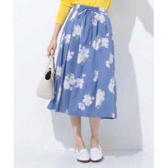 J.PRESS / ジェイプレス 【洗える】Vintage Floral Print スカート