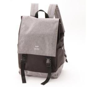 バッグ カバン 鞄 レディース リュック 高密度杢調ポリエステル リュック カラー ブラック×グレー