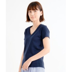 NIMES / ニーム コーマフライス 肩合わせ V/N 半袖 P/O