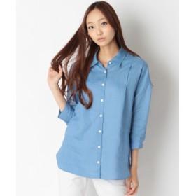 SHIPS for women / シップスウィメン フレンチリネン カシュクールシャツ