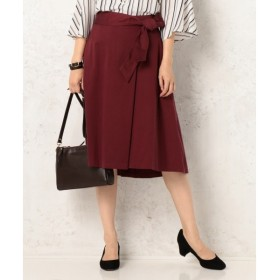 S size ONWARD(小さいサイズ) / エスサイズオンワード 【洗える!】ピーチキュプラサテン ラップスカート