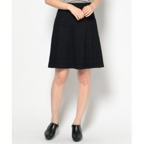 L size ONWARD(大きいサイズ) / エルサイズオンワード 【セットアップ対応】ブークレーラメチェックツイード スカート
