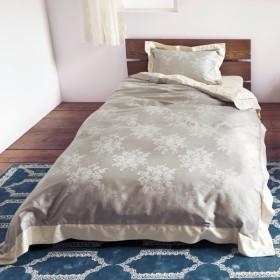 ベルメゾン 綿100%サテンのジャカード織り掛け布団カバー