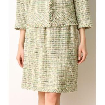 Harriss / ハリス カラーツィードゴムギャザースカート