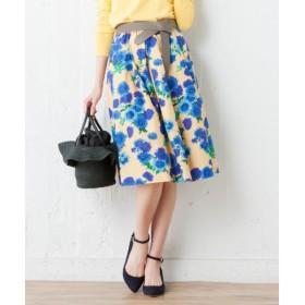 S size ONWARD(小さいサイズ) / エスサイズオンワード 【洗える】マルグリットフルールプリント スカート