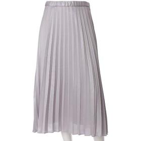 INED L / イネド(エルサイズ) 《INED》メタルラメプリーツスカート