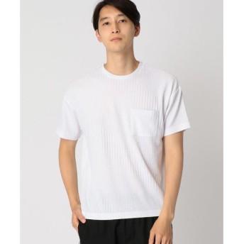 COMME CA ISM / コムサイズム ジャカード ビッグ Tシャツ