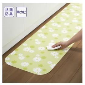 キッチン マット 日本製 拭ける吸着デザイン 抗菌・防臭・防カビ加工 年中  長さ:〜120cm ニッセン