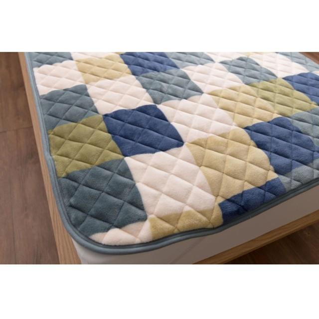 布団カバー シーツ 敷きパッド パッドシーツ ベルメゾン 20色から選べるマイクロファイバー敷きパッド 枕カバー mofua グリーン チェック柄 シングル